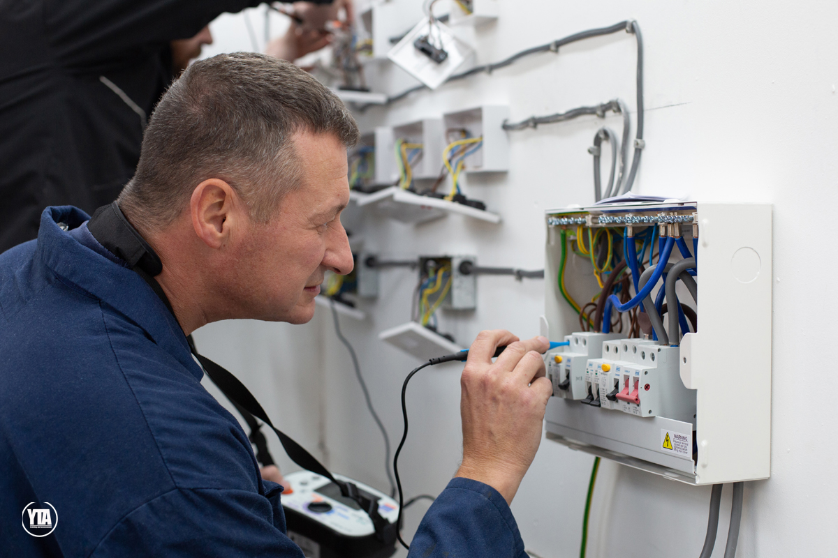 Domestic Electrical Installer circuit Testing. Electrical courses at YTA Yorkshire.
