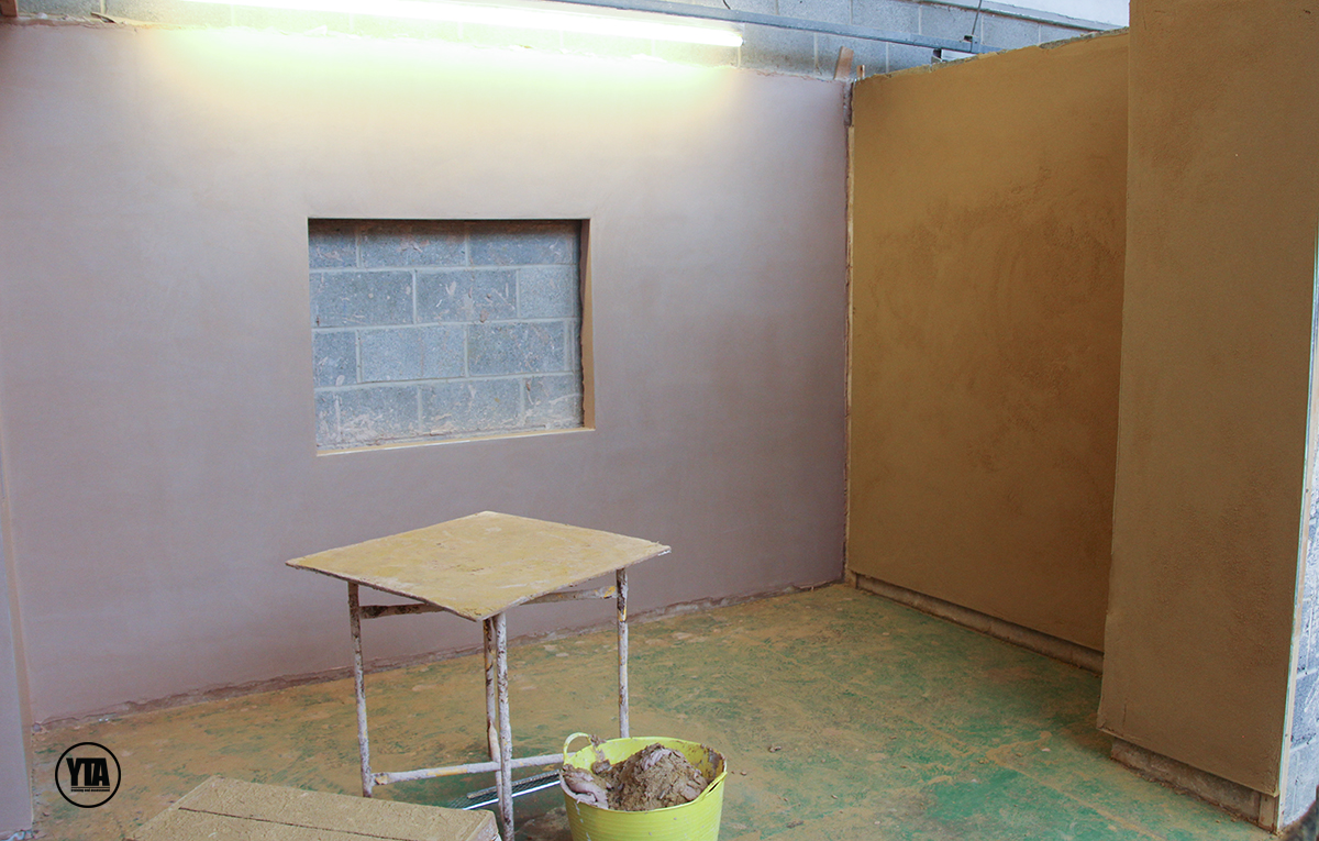 Plastering NVQ level 2 assessment bay right side