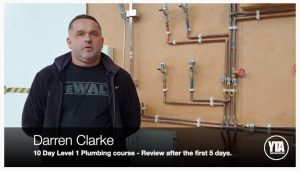 Darren Clarke plumbing course review screenshot